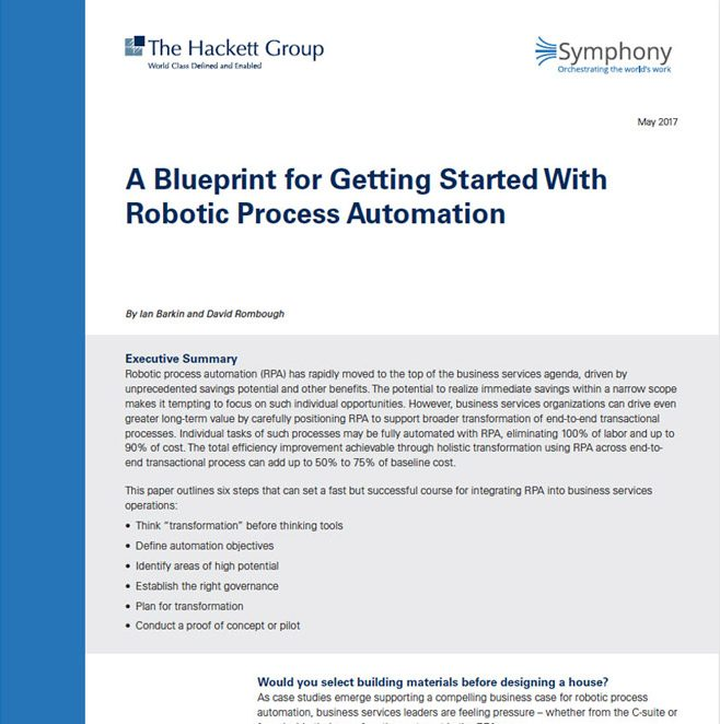 A Blueprint for Getting Started with RPA