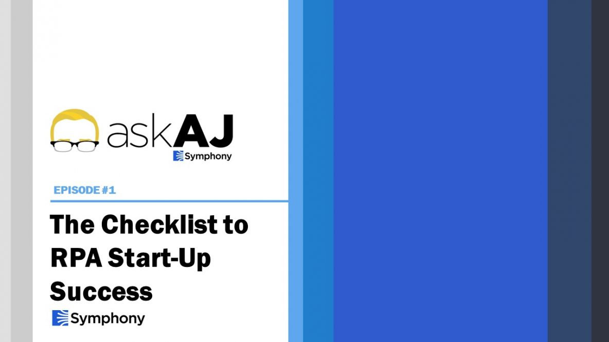 RPA Start Up Checklist